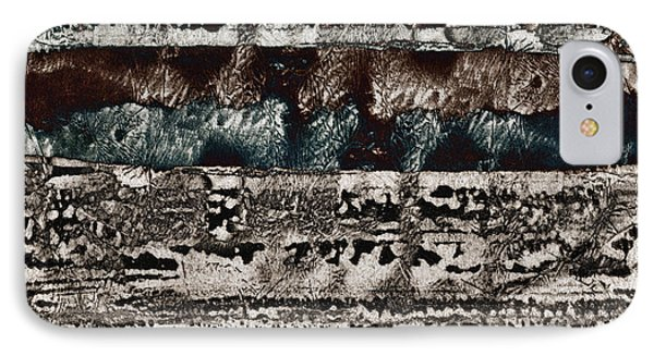 Blue And Black Textures IPhone Case by Carol Leigh