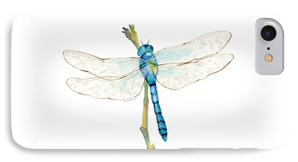 Blue Dragonfly IPhone Case by Amy Kirkpatrick