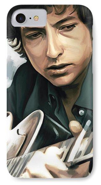 Bob Dylan Artwork IPhone Case by Sheraz A