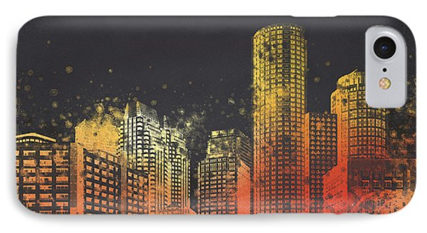 Boston City Skyline Phone Case by Aged Pixel