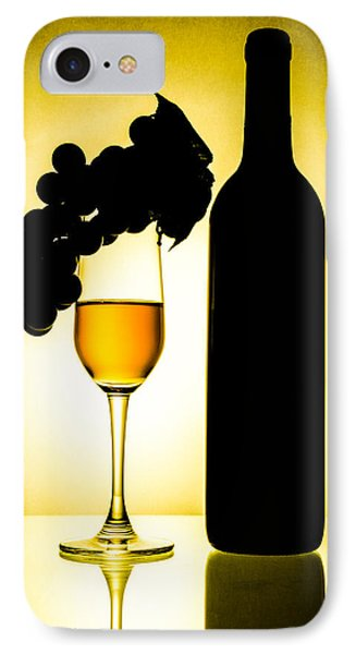 Bottle And Wine Glass Phone Case by Sirapol Siricharattakul