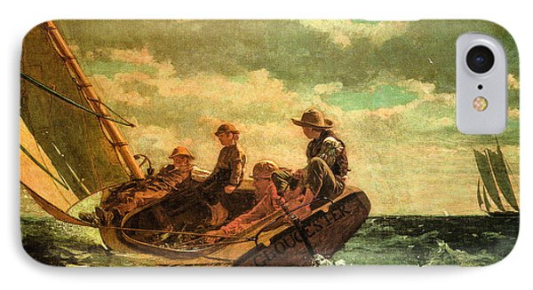 Breezing Up Phone Case by Winslow Homer