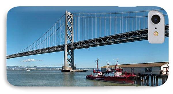 Bridge Across A Bay, Bay Bridge, San IPhone Case by Panoramic Images