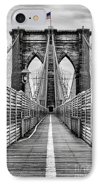 Brooklyn Bridge IPhone 7 Case by John Farnan