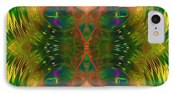 Butterfly Matrix IPhone Case by Georgiana Romanovna
