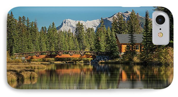 Cabin And Bridge On Policemans Creek IPhone Case by Panoramic Images