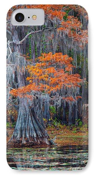 Caddo Lake Autumn IPhone Case by Inge Johnsson
