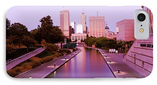 Canal In A City, Indianapolis Canal IPhone Case by Panoramic Images