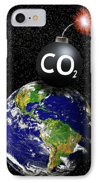Carbon Dioxide Bomb IPhone Case by Victor De Schwanberg