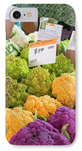Cauliflower Market Stall IPhone 7 Case by Jim West