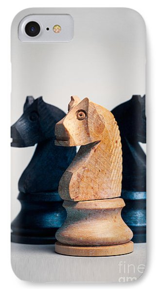 Chess Knights Phone Case by Mark Fearon