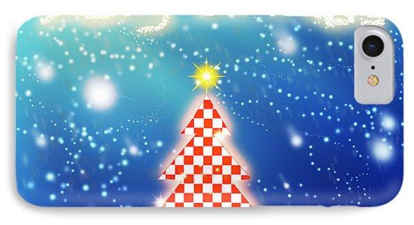 Chess Style Christmas Tree Phone Case by Atiketta Sangasaeng