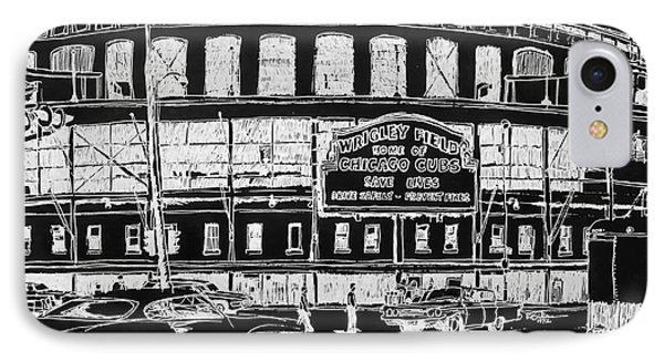 Chicago Cubs Wrigley Field IPhone Case by Robert Birkenes