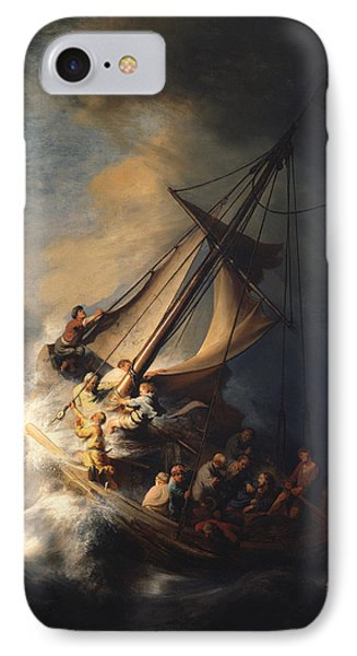 Christ In The Storm On The Sea Of Galilee IPhone Case by Celestial Images