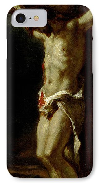 Christ On The Cross IPhone Case by Delacroix