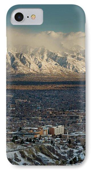 Clean Air From Ensign Peak Area Looking IPhone Case by Howie Garber