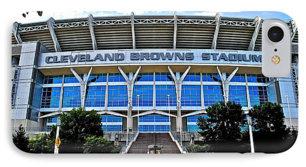 Cleveland Browns Stadium Phone Case by Frozen in Time Fine Art Photography