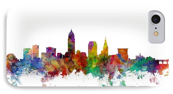 Cleveland Ohio Skyline IPhone Case by Michael Tompsett