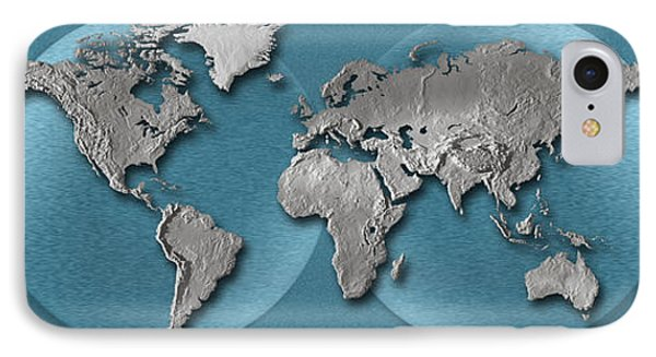 Close-up Of A World Map IPhone Case by Panoramic Images