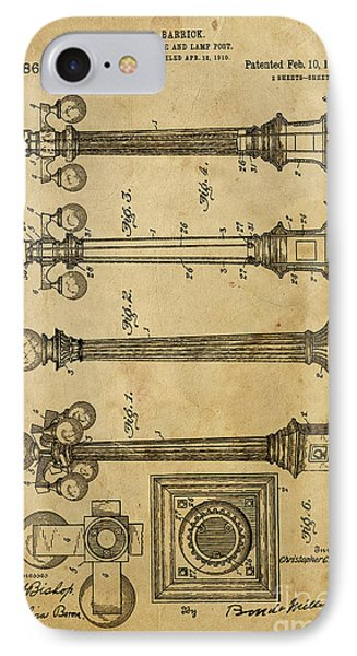 Combined Pole And Lamp Post - 1914 IPhone Case by Pablo Franchi