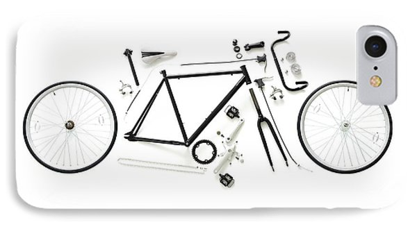 Components Of A Road Bike IPhone Case by Science Photo Library