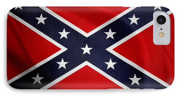 Confederate Flag IPhone Case by Les Cunliffe
