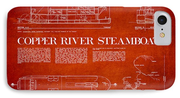 Copper River Steamboats Blueprint Phone Case by Aged Pixel