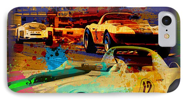 Corvette Racing IPhone Case by Gary Grayson