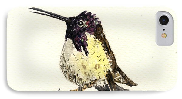 Costa S Hummingbird IPhone Case by Juan  Bosco