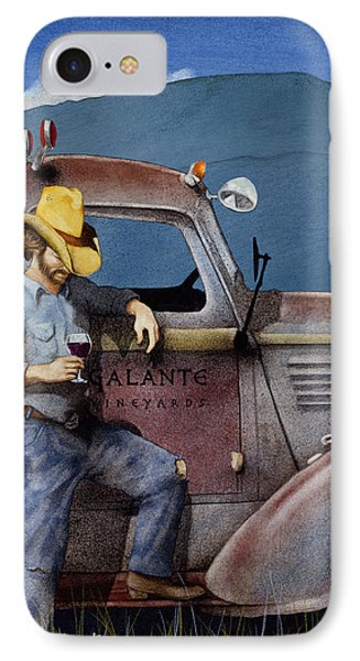 Cowboys And Cabernet... IPhone Case by Will Bullas