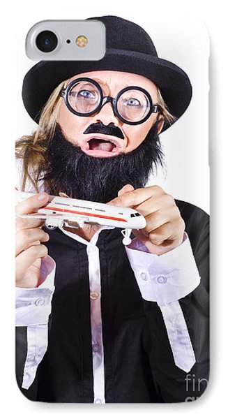 Crazy Terrorist Hijacking Passenger Jet Plane IPhone Case by Jorgo Photography - Wall Art Gallery
