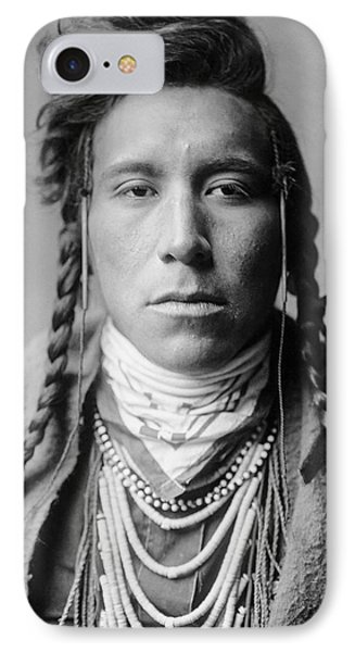 Crow Indian Man Circa 1908 Phone Case by Aged Pixel