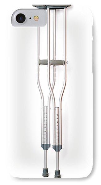 Crutches IPhone Case by Daniel Sambraus