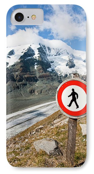 Danger Zone Alps And Mountains IPhone Case by Martin Zwick