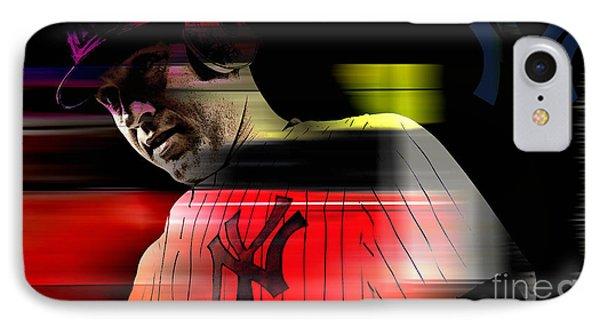 Derek Jeter IPhone Case by Marvin Blaine
