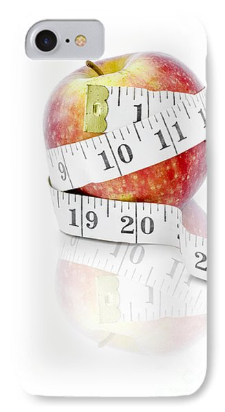 Diet And Weight Loss Concept On White Background IPhone Case by Jorgo Photography - Wall Art Gallery