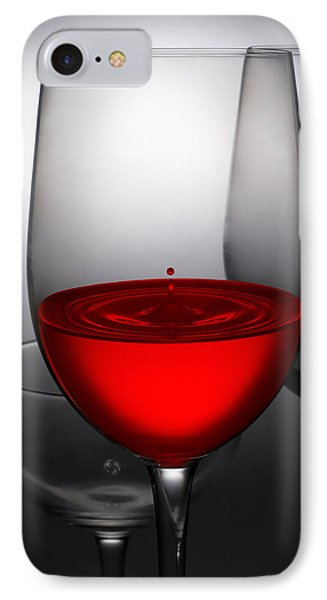 Drops Of Wine In Wine Glasses IPhone Case by Setsiri Silapasuwanchai