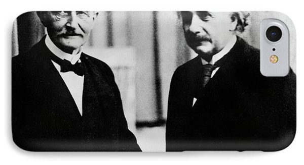 Einstein And Max Planck IPhone Case by Emilio Segre Visual Archives/american Institute Of Physics