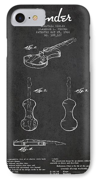 Electric Violin Patent Drawing From 1960 IPhone Case by Aged Pixel