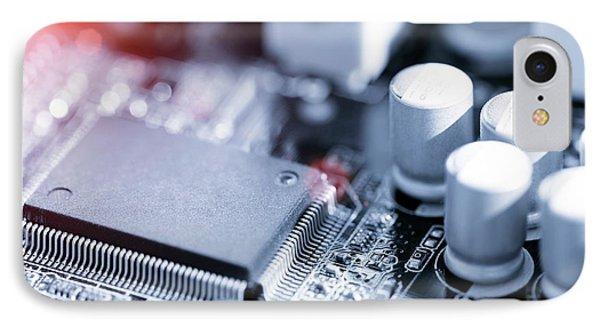 Electronic Chip IPhone Case by Wladimir Bulgar