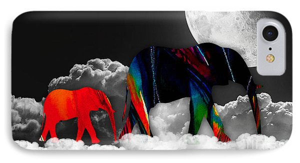 Elephants On Cloud 9 IPhone Case by Marvin Blaine