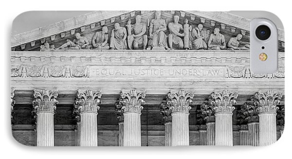 Equal Justice Under Law Bw IPhone Case by Susan Candelario