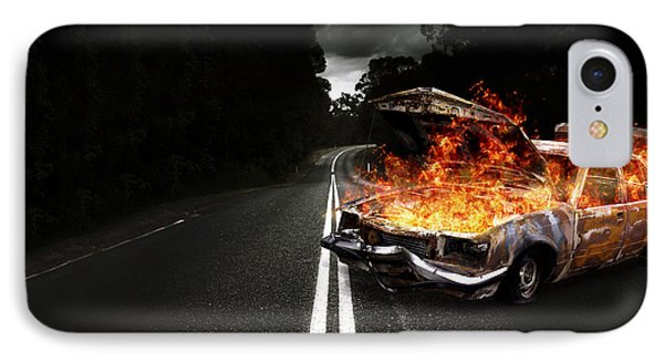 Explosive Car Bomb IPhone Case by Jorgo Photography - Wall Art Gallery
