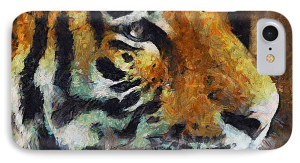 Eye Of The Tiger IPhone Case by Georgiana Romanovna