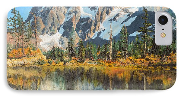 Fall Reflections - Cascade Mountains Phone Case by Mary Ellen Anderson