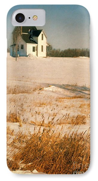 Farmhouse In Winter IPhone Case by Jill Battaglia