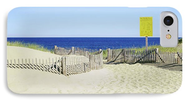 Fence On The Beach, Cape Cod IPhone Case by Panoramic Images