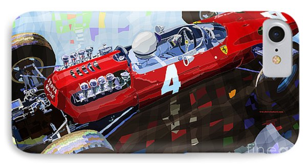 Ferrari 158 F1 1965 Dutch Gp Lorenzo Bondini IPhone Case by Yuriy  Shevchuk