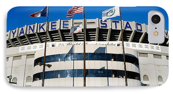 Flags In Front Of A Stadium, Yankee IPhone Case by Panoramic Images