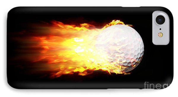 Flame Golf Ball IPhone Case by Jorgo Photography - Wall Art Gallery